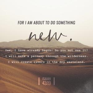 Bible passage of Isaiah 43:19